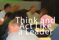 think and act like a leader