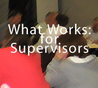 what works for supervisors
